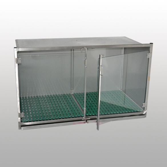 mat riel v t rinaire cage hospitalisation inox avec bac. Black Bedroom Furniture Sets. Home Design Ideas